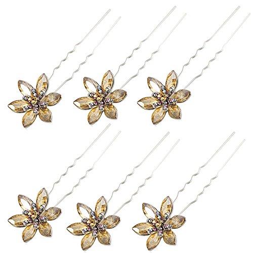 6-pcs-flower-hair-pins-brown-rhinestone-wedding-prom-hair-pins-decorative-44-brown