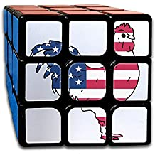 WYZYZHDQ Rooster With The US Flag-1 Rubik's Cube Game Brain Training Game Match Puzzle Toy For Kids Or Adults Speed Cube Stickerless Magic Cube