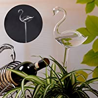Auntwhale Automatic watering device 1pcs glass watering flower device Irrigation Flower Tools Simple Flowerpot Device Flamingo Shape