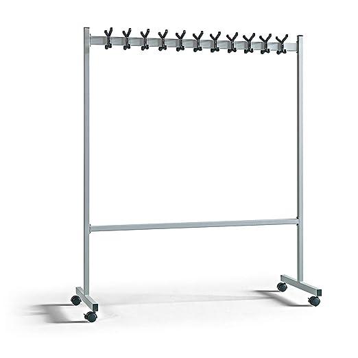 Perchero de pie de Aluminio Plateado 1700 x 550 mm, Ancho ...