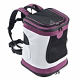 Pettom Dog Cat Pet Carrier Backpack Soft Sided Airline Approved Travel Hiking (Purple) Backpack Carriers