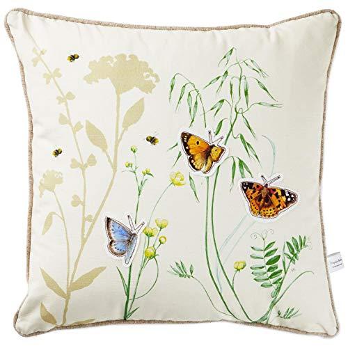 Hallmark Marjolein Bastin Butterfly Trio Square Pillow, 17x17 Home Decor Animals & Nature