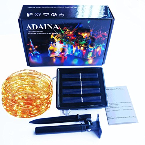 ADAINA Solar Led String Fairy Lights,20M 66Ft/200 LEDs Starry Firefly Rope Lights,1800mAh,Waterproof Indoor Outdoor Decoration for Garden,Patio,Wedding,Home Party(20M Warm (Outrageous Halloween Decorations)