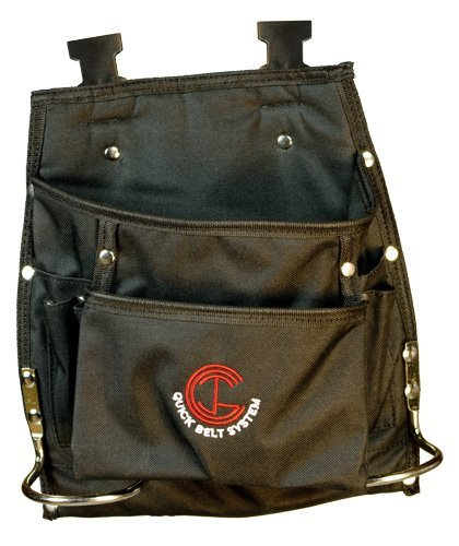 Quick Belt System QBS15 8-pocket Nylon All-Purpose Pouch with Dual Hammer Holders for carpenters-electricans-drywallers-sign makers