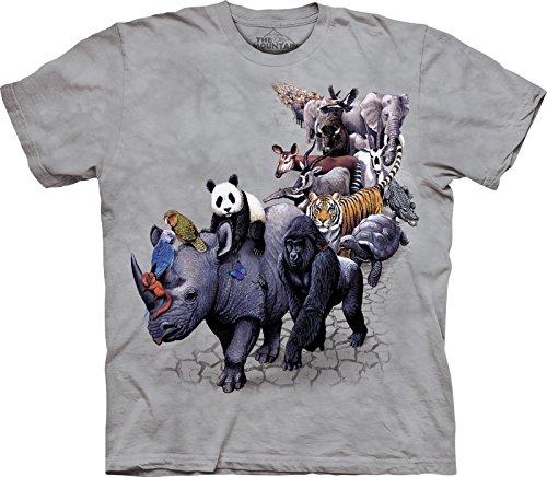 The Mountain Kids 100% Cotton Animal Parade T-Shirt
