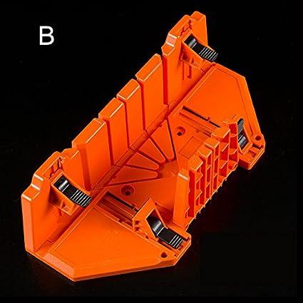 Cutogain Bois Angle de Coupe Scie 0//22,5//45//90//° Bo/îte /à onglets de Serrage Cabinet Coque Outil de Travail du Bois a 90mm*295mm*50mm