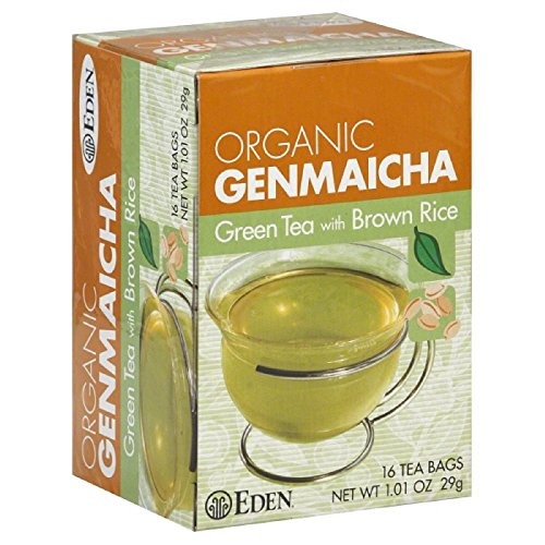 EDEN FOODS Organic Green Tea with Brown Rice, Traditional Genmaicha, 16 (Mild Organic Brown Rice)