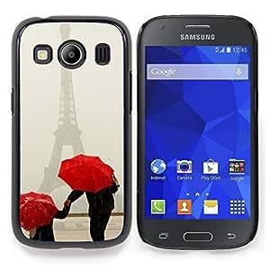 Stuss Case / Funda Carcasa protectora - Paraguas Arte Blanca Nieve Invierno Rojo - Samsung Galaxy Ace Style LTE/ G357