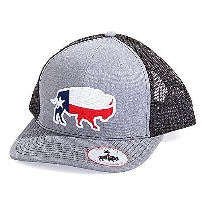 Red Dirt Hat Co. Men's Heather Grey Texas Buffalo Cap