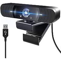 NIERBO Cámara web con micrófono Ideal para videollamadas o clases online, PC 1080P 2MP Full HD PC Computadora de…