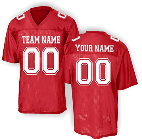 Custom Replica Football Practice Jersey - Add Your Team, Name, Number (Optional Shoulder Numbers) ()