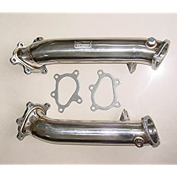 Manzo Stainless Steel Exhaust Downpipe fits Nissan GTR R35 Turbo 09 - 15 1 Pair