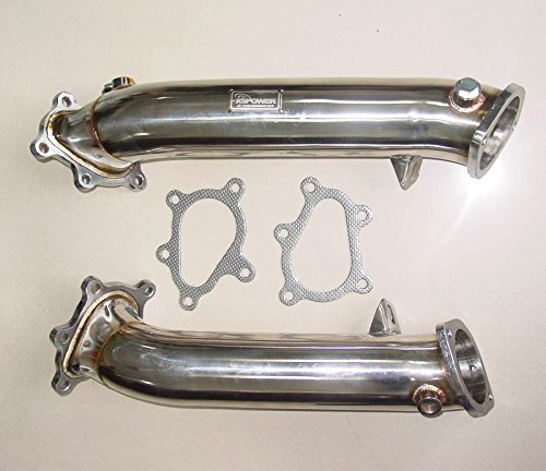 (Manzo Stainless Steel Exhaust Downpipe fits Nissan GTR R35 Turbo 09-15 1 Pair)