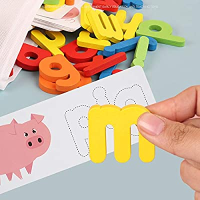 Gabriely Wooden Cardboard English Spelling Alphabet Game Educational Early Education Toys for Children: Kitchen & Dining