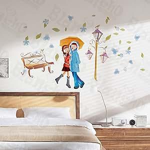 D a lluvioso etiquetas de la pared pegatinas apliques for Amazon decoracion pared