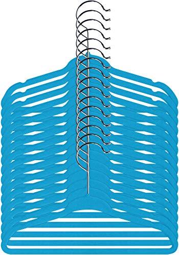 (Utopia Home Kids Velvet Hangers - Pack of 25 - Small Clothes Hanger - Non Slip - Space Saver - Blue)