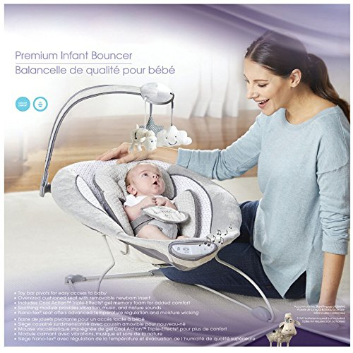 Serta I Comfort Premium Infant Bouncer Grey 11street