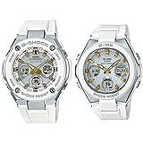 [カシオ]CASIO Gショック×ベビーG 大人のペアウォッチ 電池交換不要!電波ソーラー 高機能 アナデジ ホワイト 白セット GST-W300-7AJFMSG-W100-7A2JF 腕時計 [並行輸入品]