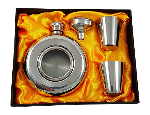 5-oz-Round-Flask-with-Window-Gift-Set-with-Two-Shot-Glasses-and-Funnel