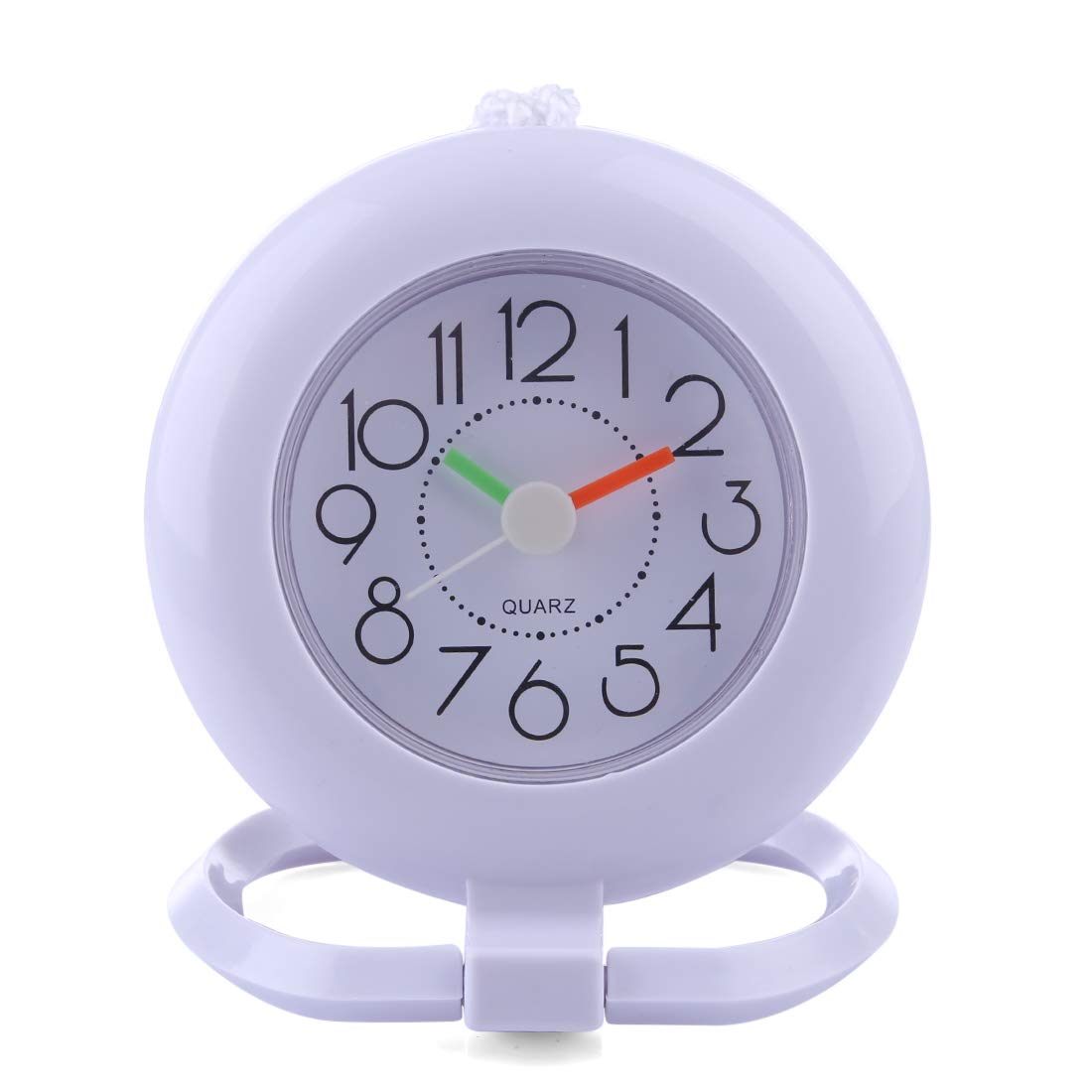 ZUJI Horloge Murale Silencieuse pour Salle de Bain Petit Pendule Murale Blanc