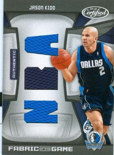 2009 Certified Authentic Jason Kidd Tiple Patch Game Worn Jersey Card