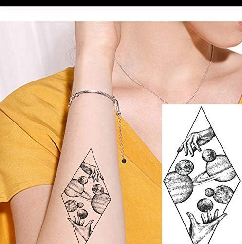 LFVGUIOP Diamond Planet Sexy Impermeable Brazo Manos Tatuajes ...