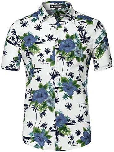 柄シャツ メンズ 半袖 アロハシャツ ワイシャツ 総柄 カラフル ファッション カジュアル