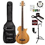 ESP LTL4ZNAT-KIT-1 Thinline Series TL-4Z 4-String Acoustic-Electric Bass Guitar, Natural Gloss