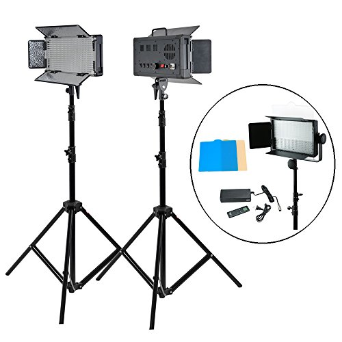 Godox Photography Led Light Kit Led500 White Version Kit with Lux4400 for Photography Studio Video with Stand,Power Cable,Filter,Remote Control
