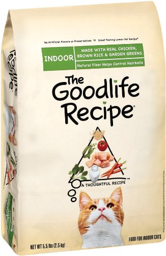 The Goodlife Recipe with Chicken Food for Indoor Cats, 5.5-Pound Bags (Pack of 3), My Pet Supplies