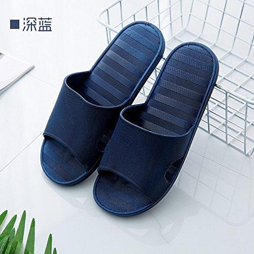 Pantofole casa di della en home perdite dolce coppie suite scuro acqua antiscivolo donna maschio blu morbido cool pantofole fuori casa bagno 42 al 41 fankou estate dwp7CTxdq