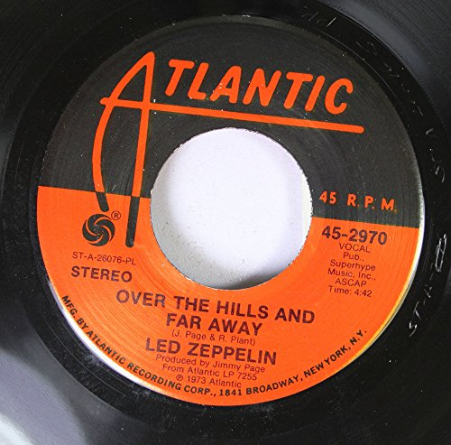 45 Records Hill Rpm (led zeppelin 45 RPM over the hills and far away / dancing days)