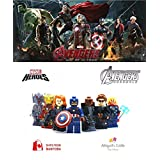 7 Minifigures MARVEL Super Heroes Avengers 2 Age of Ultron Ultron, Iron Man with armor Mark XLIII, Captain America, Thor, Black Widow, Nick Fury,HawkeyeMinifigure Series Building Blocks Sets Toy Compatible With Lego (No box, no card)