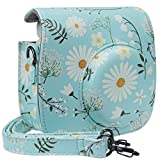 Blummy PU Leather Instax Mini 9 Camera Case for Fujifilm Instax Mini 8/Mini 8+/Mini 9 Instant Camera with Adjustable Strap and Pocket (Leaf)