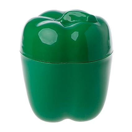 Caja de almacenamiento de alimentos XMPTF Green Pepper Saver Crisper de plástico para frutas y verduras