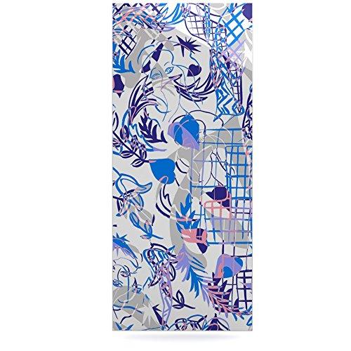 24 x 36 Kess InHouse Gabriela Fuente She Blue White Luxe Rectangle Panel