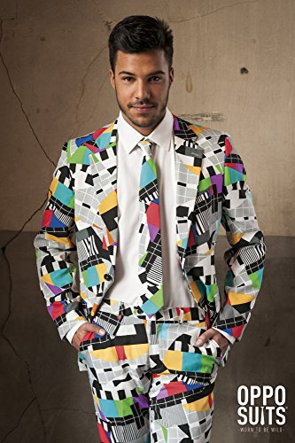 Creative Suite Costume (Mens 'SUMMER Testival' Party Suit and Tie byOppoSuits, 42)
