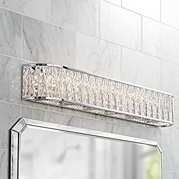 Vivienne Modern Wall Light Chrome Cut Crystal 35 Quot Vanity