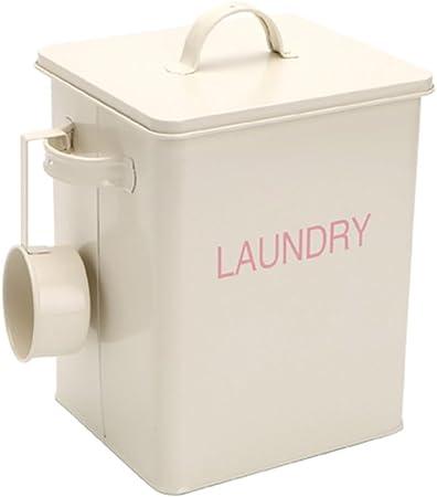 Harra hogar Lavandería polvo detergente recipiente caja de lata ...