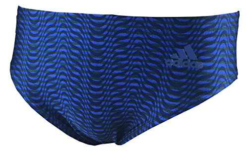 Adidas Mens Performance Swim Briefs, Navy Blue Size 32