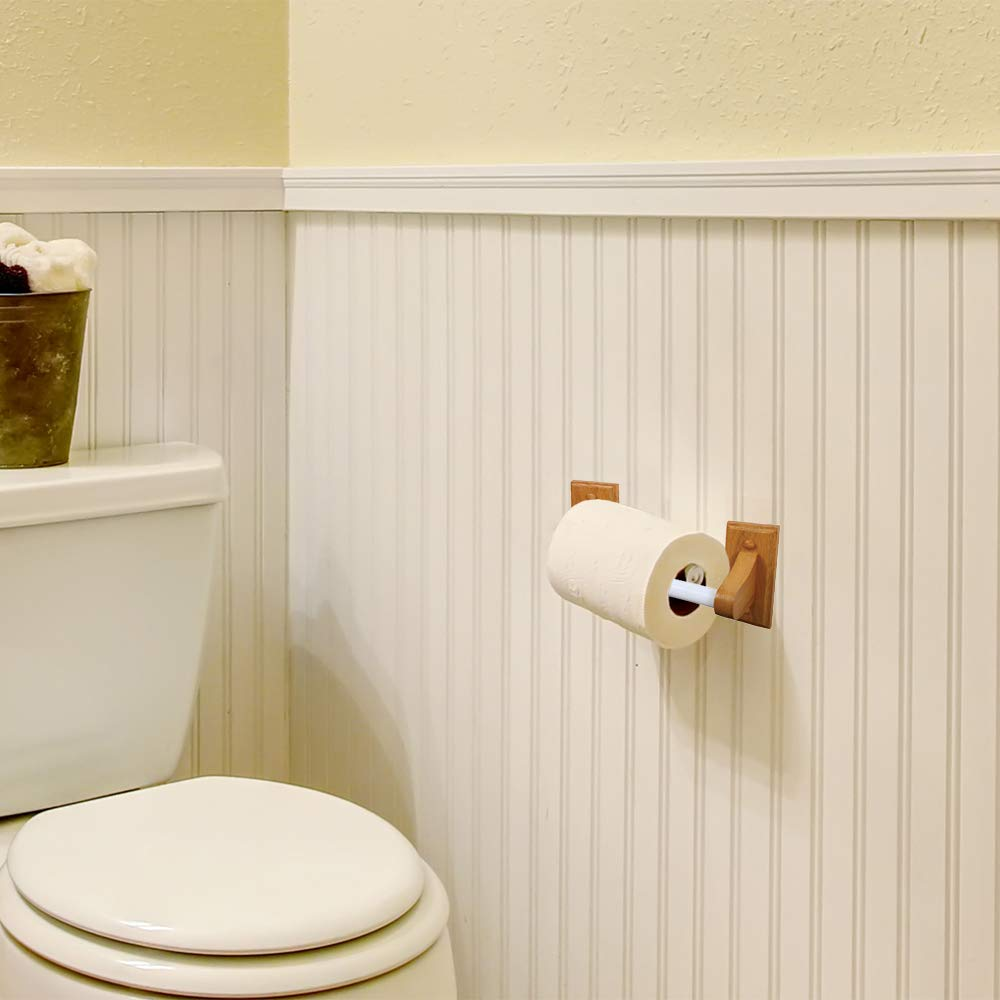 Design House 561209 Dalton Toilet Paper Holder, Honey Oak Finish ...