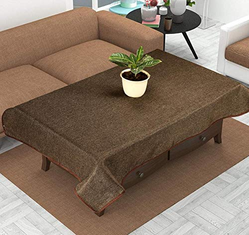 KINGLY Cotton Center Table Cover for 4 Seater – Brown Price & Reviews