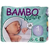 Bambo Nature Premium Baby Diapers, Newborn, 28 Count, Size 1 by Bambo Nature [parallel import goods]