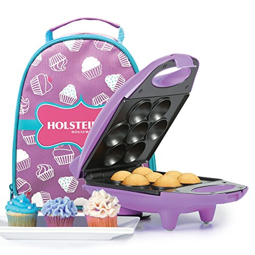 Holstein Housewares HM-09101P-BU Mini Cupcake Maker Kit - Purple