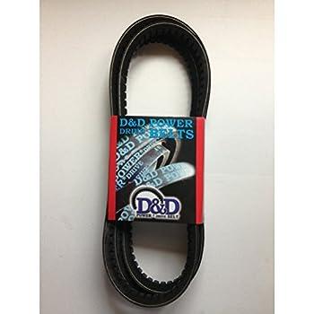 """D&D PowerDrive 4212 V Belt, 43.77"""" Length, Rubber"""
