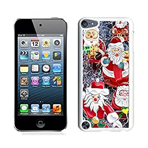 Ipod 5 Cases,Christmas Gifts Santa Claus White Hard Shell Plastic Apple Ipod Touch 5th Cases