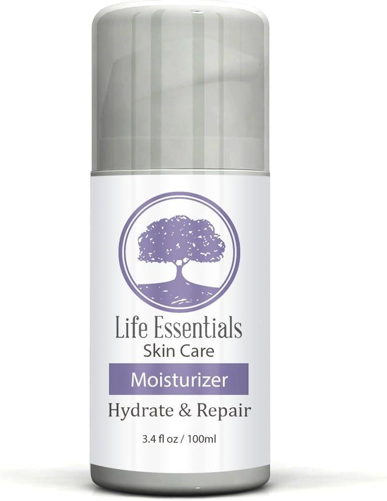 Moisturizer for Dry Skin - Hydrate & Repair - Best Cream with Jojoba Oil, Hyaluronic Acid, Aloe Vera & Green Tea - Lotion for Men, Women, Sensitive & Acne Prone Skin - 3.4oz Airless Applicator