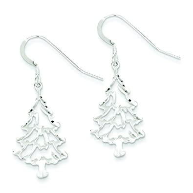 sterling earrings jewelry tree christmas silver dp