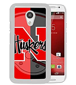 Excellent protection,Lightweight and durable Ncaa Big Ten Conference Football Nebraska Cornhuskers 4 White Motorola Moto G (2nd generation) Case