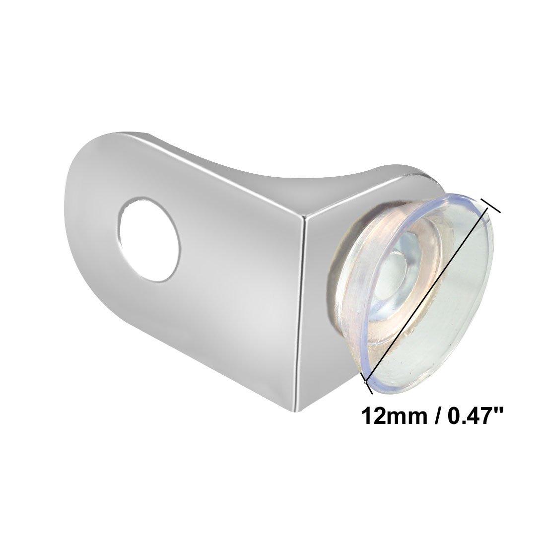 sourcing map Sostenedor del soporte de fijaci/ón del clip de Estante de cristal de 90 grados de /ángulo recto con ventosa